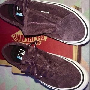 👩VANS DIAMO NI HAIRY SUEDE LOW TOP LACE UP 😍 NEW